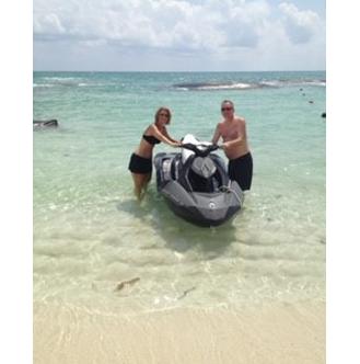 Jenny & Husband on Jet Ski