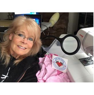 Lori sewing
