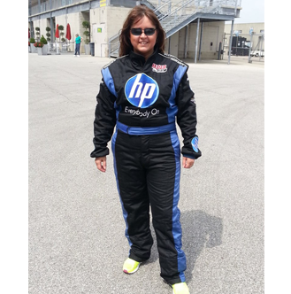 Jannie at the Track