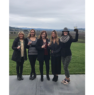 Susan & Friends at Winery