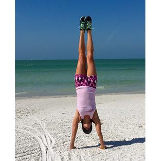 Susan Doing an Handstand