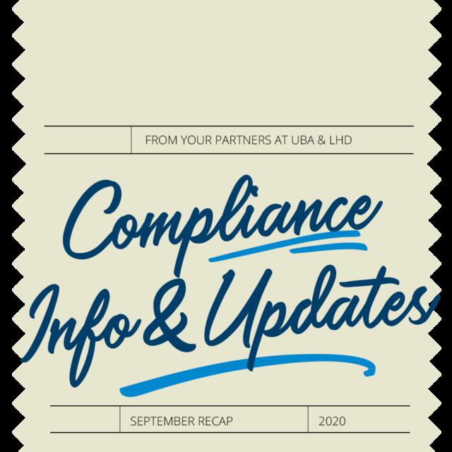 Compliance Recap