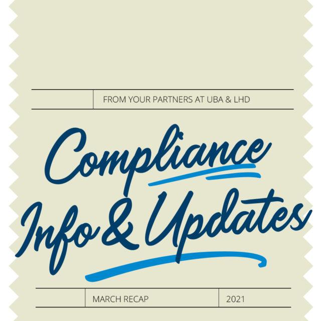 March 2021 Compliance Recap